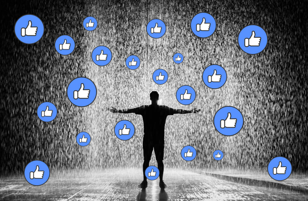 Facebook Page Likes Raining Down