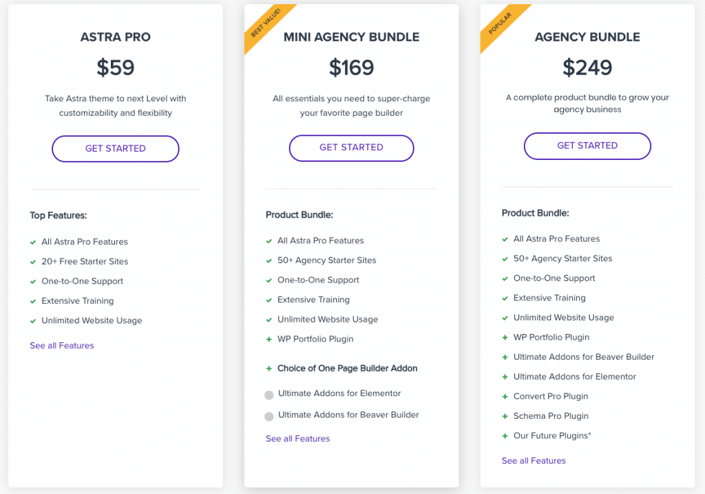 Astra Pro Pricing